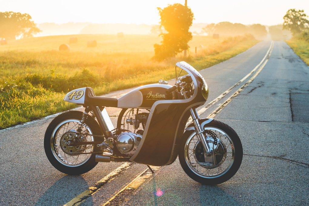 Analog Motorcycles Indian Continental Scout by Grant Schwingle