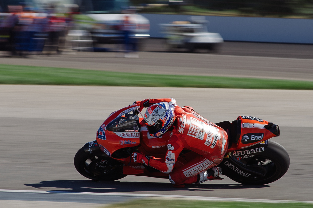Casey Stoner #27 on the 2010 MotoGP Ducati by Grant Schwingle
