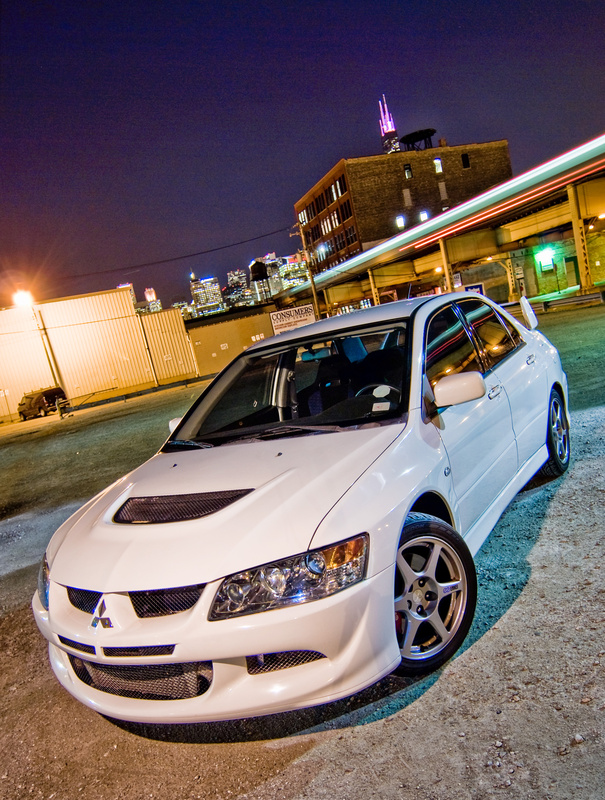 Evo 8 near Lake Street in Chicago by Grant Schwingle