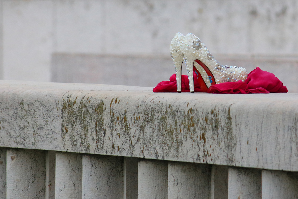 Wedding Shoes on a Wall by António Laureano