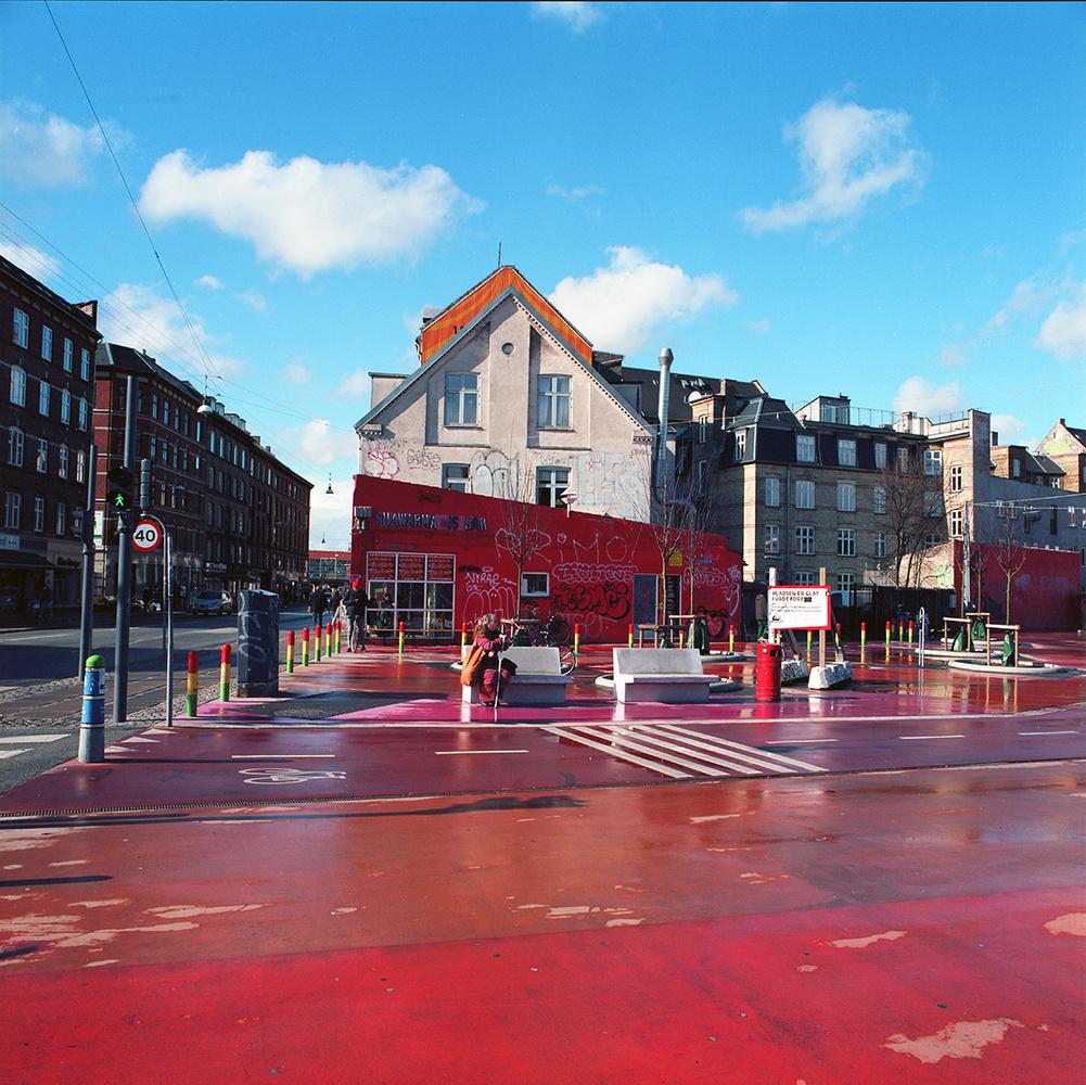 Red square no. 1 by Per Johansen