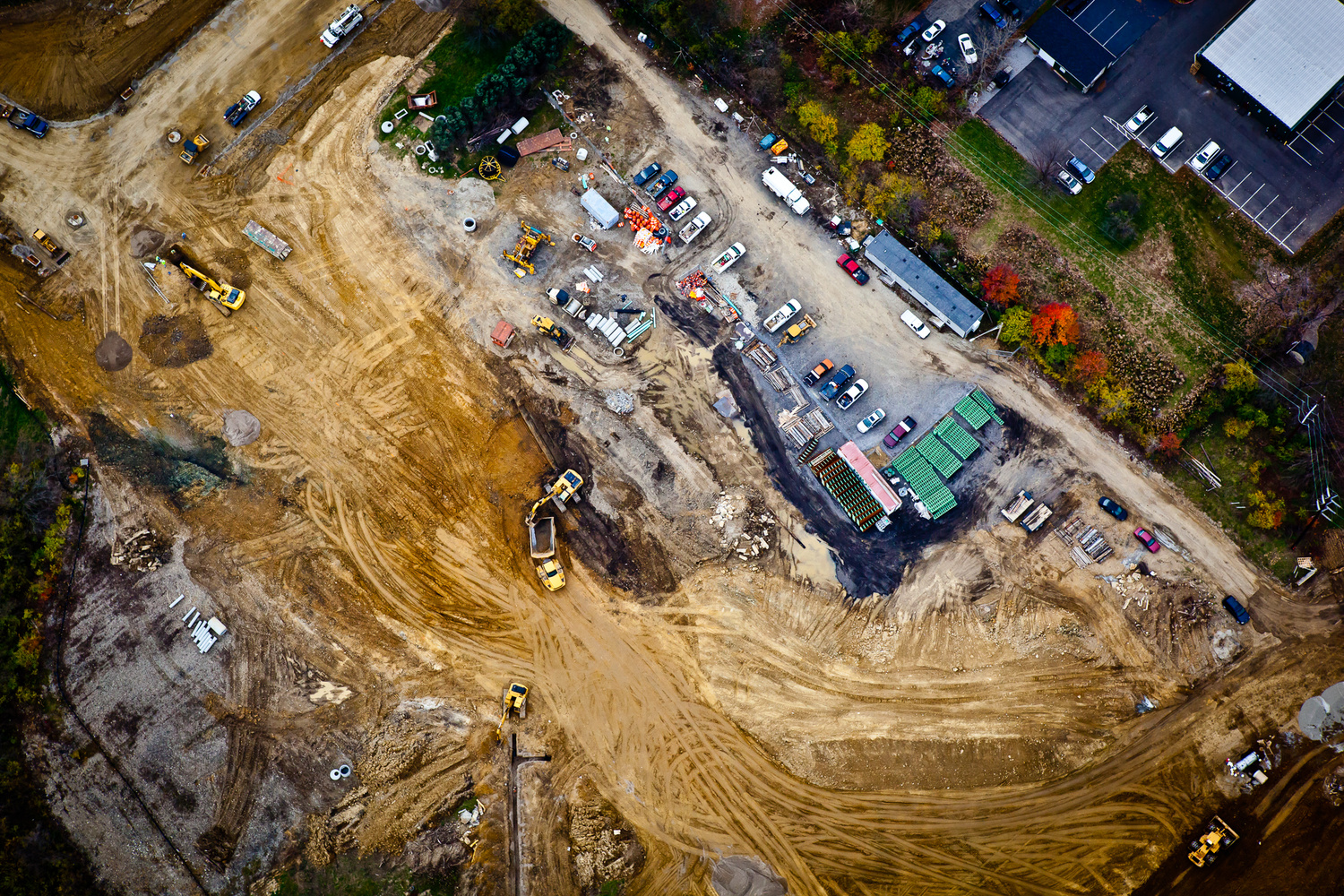 Aerial Photo of Construction Site by Rick Lohre