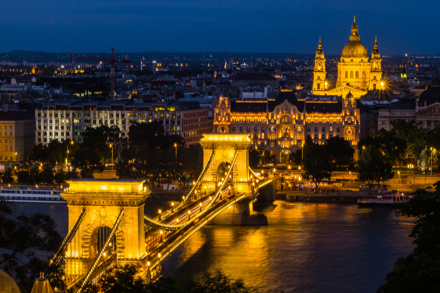 Aerial Photo of Budapest Hungary by Rick Lohre