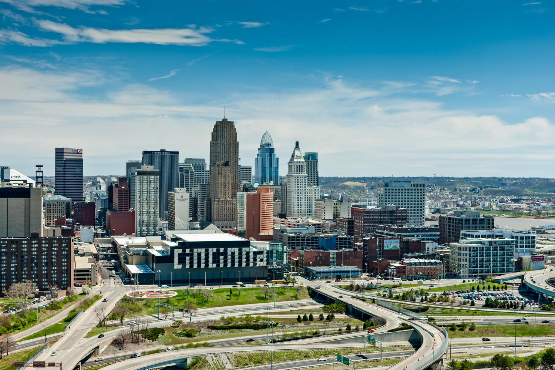 Aerial Photo of Cincinnati, Ohio by Rick Lohre