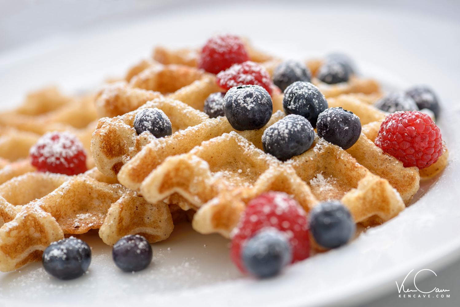 Waffles with Berries by Ken Cave