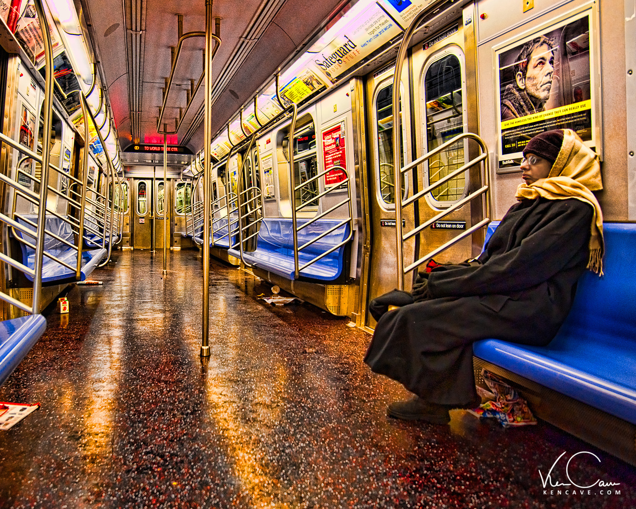 Subway Ride by Ken Cave