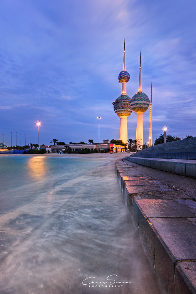 The Dusk of Kuwait Towers by Chris Sanan