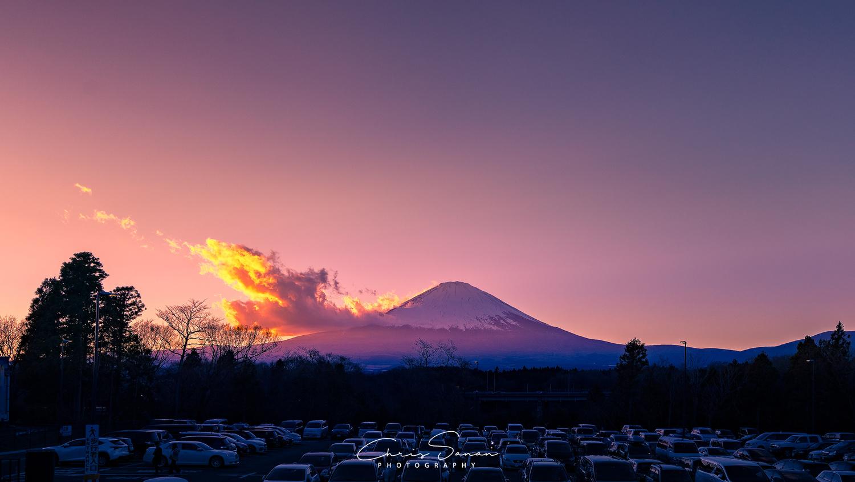 Sunset at Mount Fuji by Chris Sanan