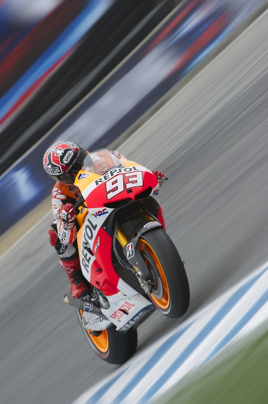 Marc Marquez with some serious shutter drag. by barry munsterteiger