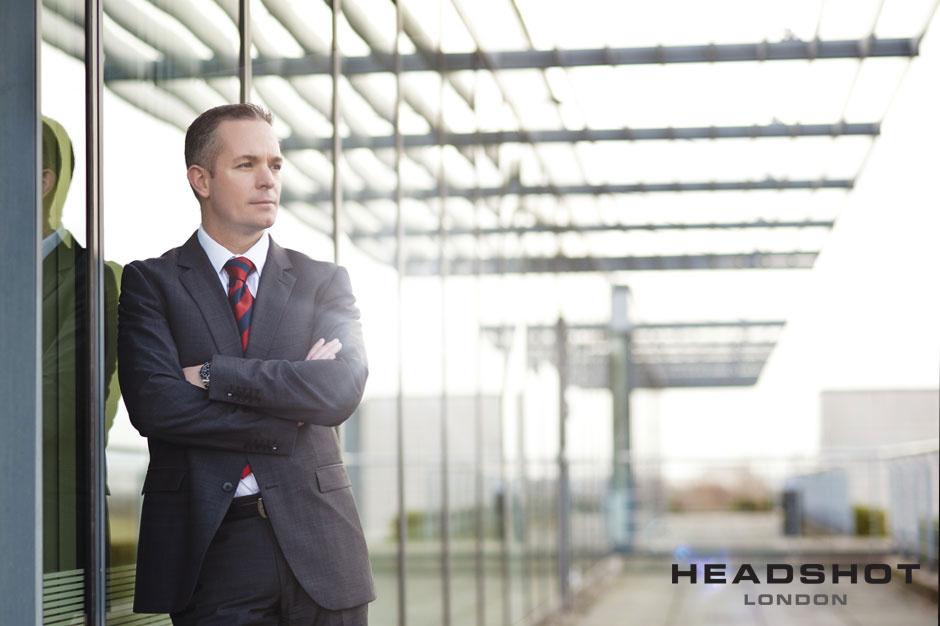 Outdoor Corporate Portrait  by David Locke