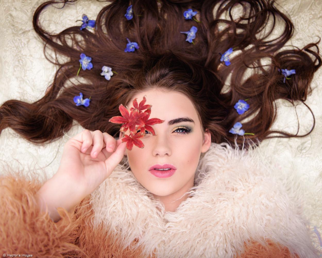 Bella's Fall Leaf by Hector Reyes