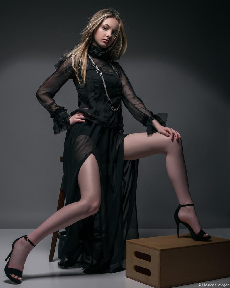 Jadyn in sheer black by Hector Reyes
