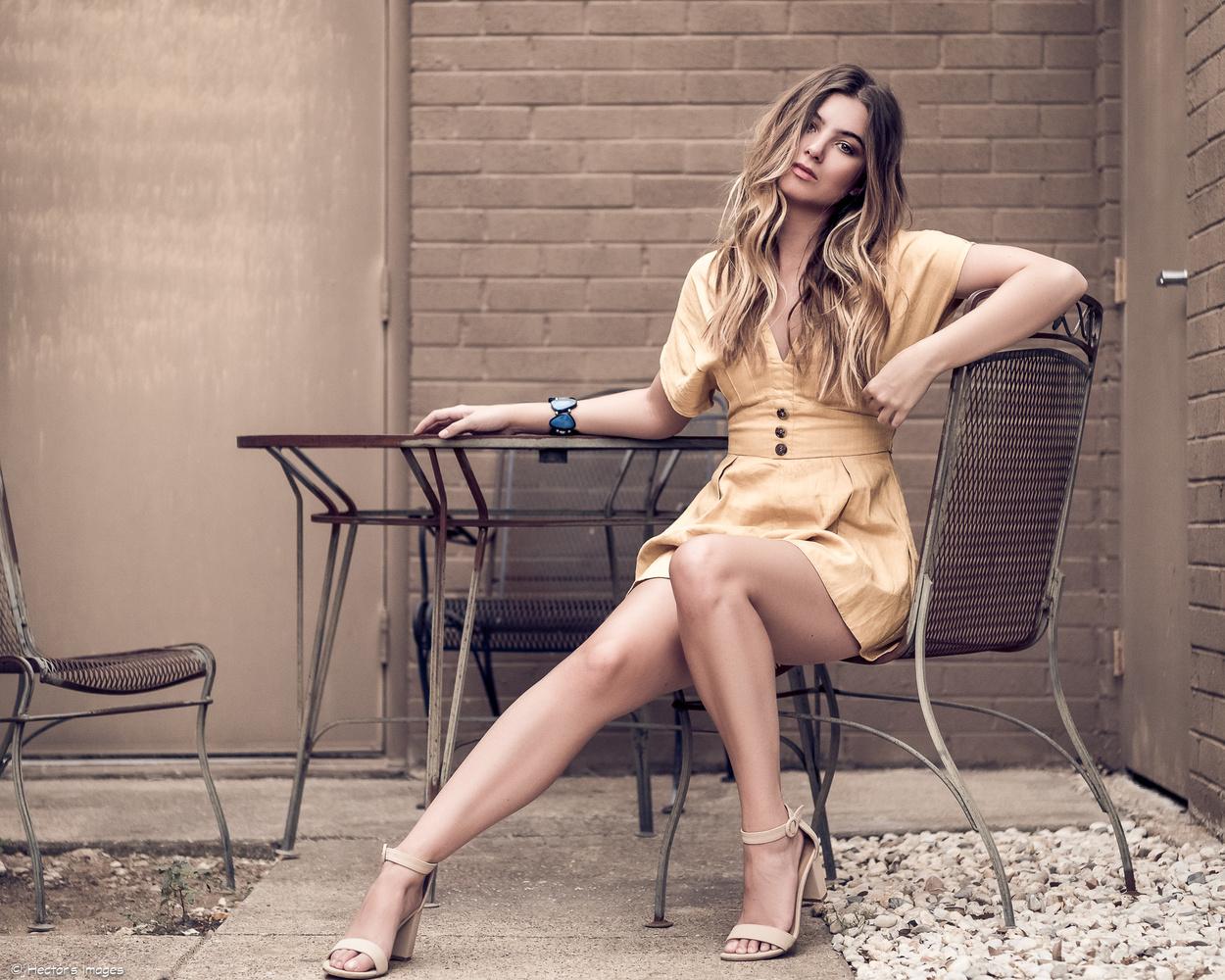 Lauren in a romper and heels by Hector Reyes
