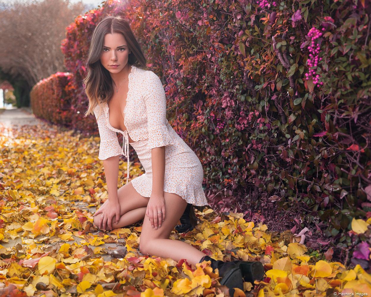 Alyssa's Fall Portrait by Hector Reyes