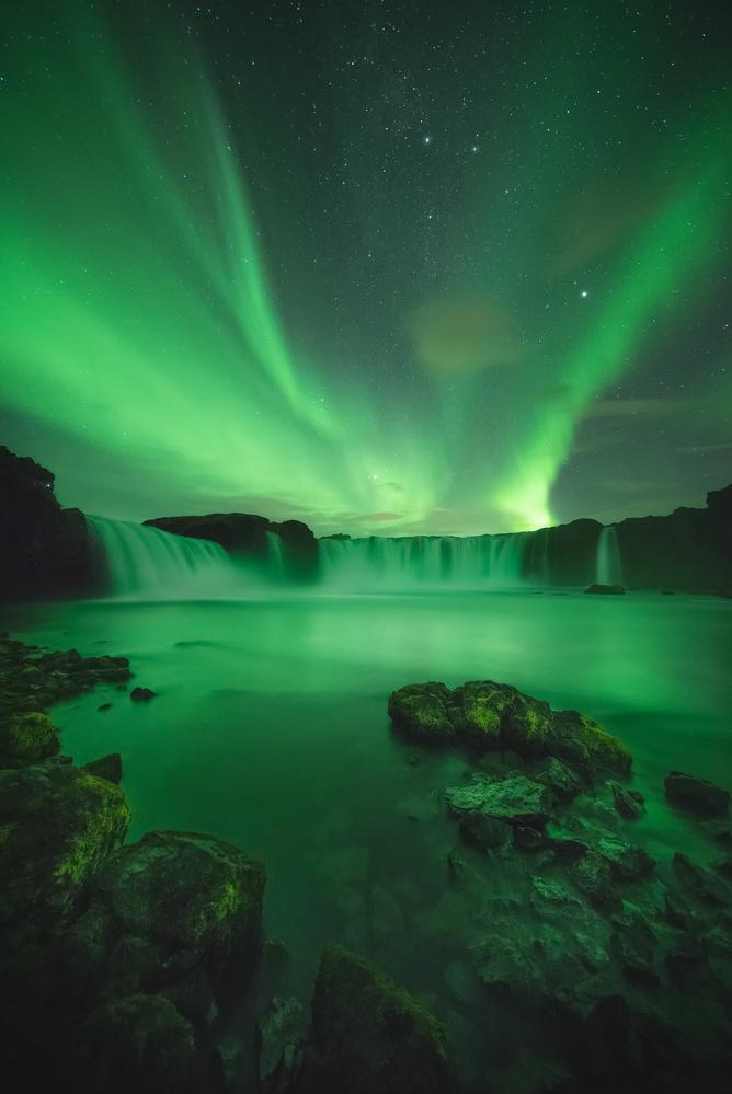 Green nights by Kaspars Dzenis