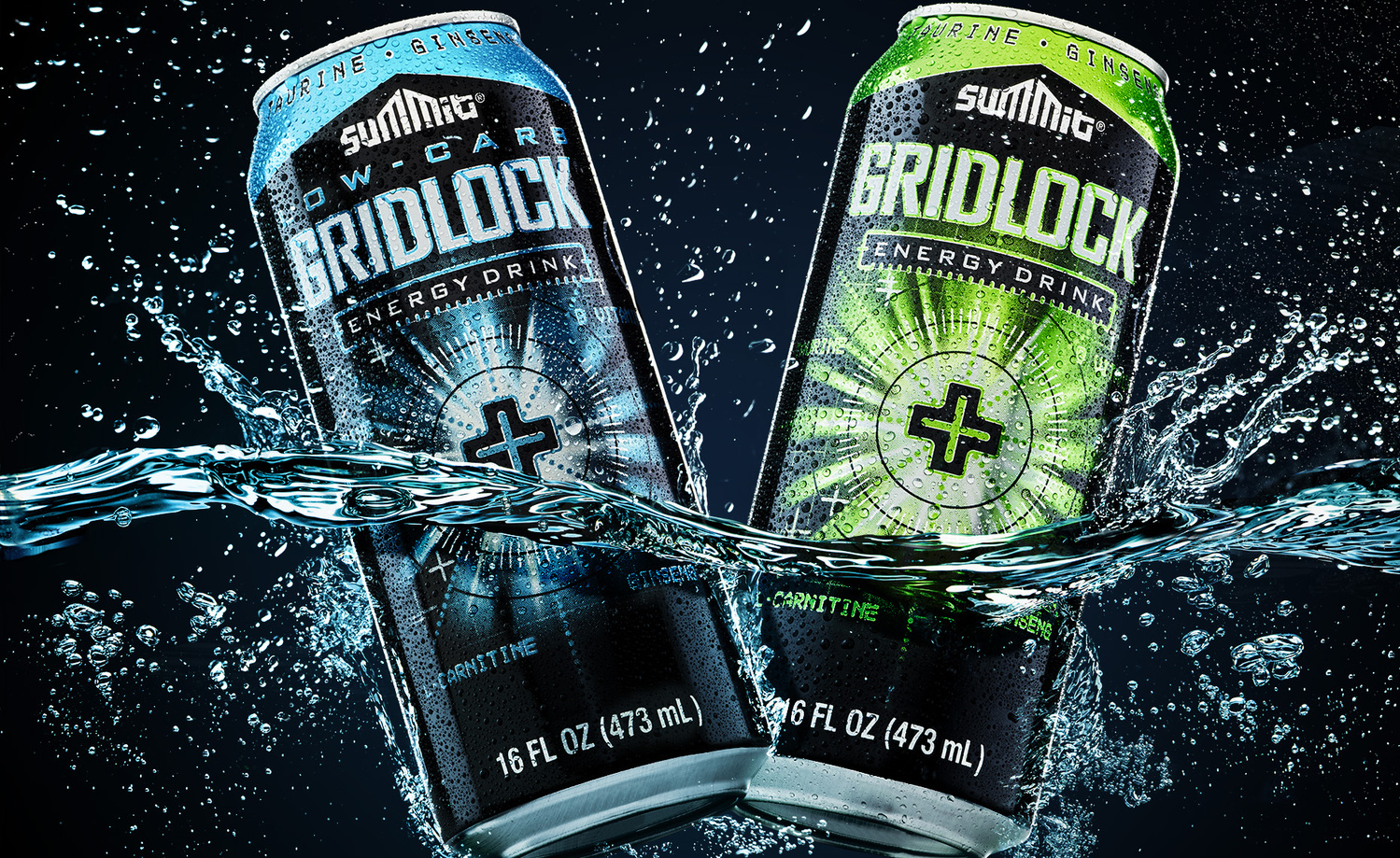 splash shot of gridlock energy drink photo by brian kaldorf by Brian Kaldorf