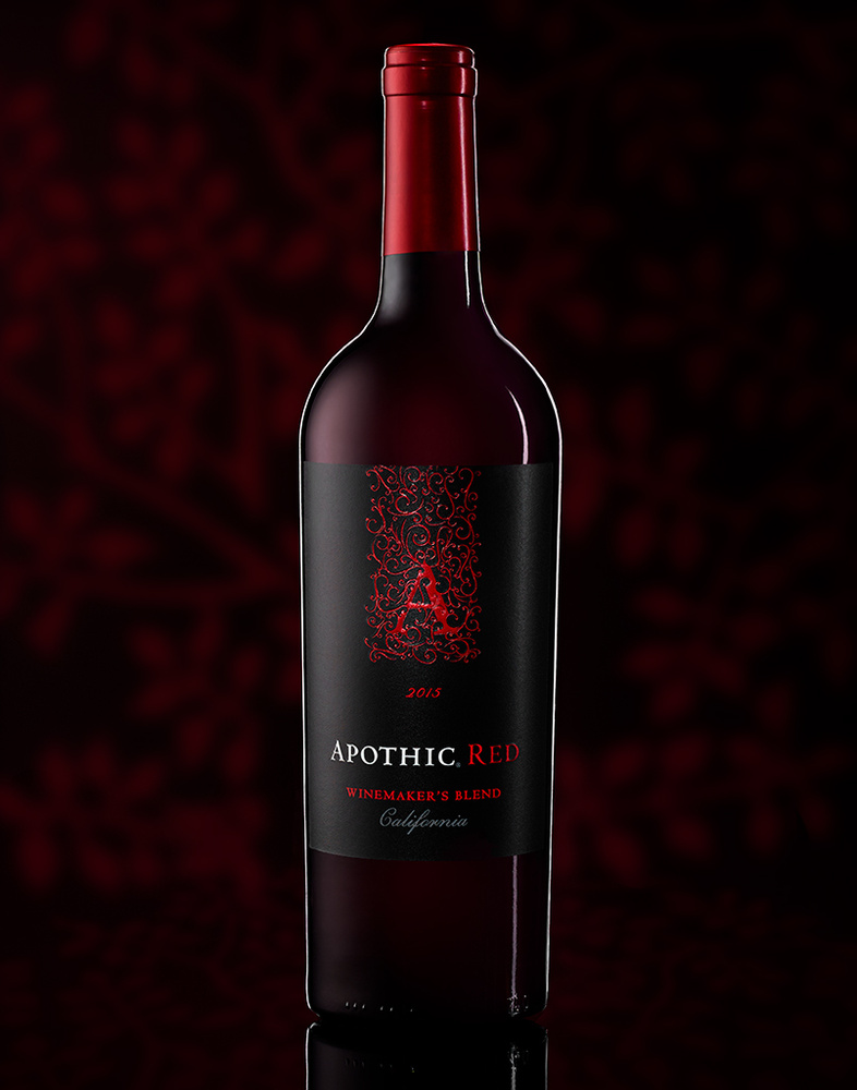 beverage shot of apothic red wine photo by brian kaldorf by Brian Kaldorf