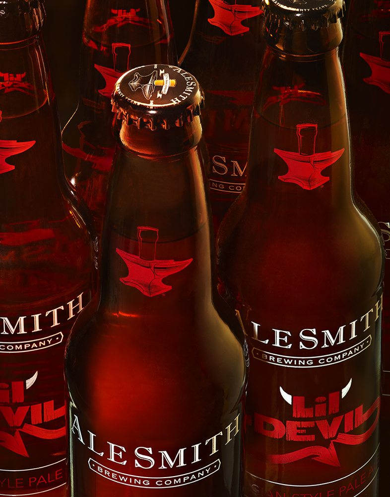 beverage group shot of alesmith lil devil beer photo by brian kaldorf by Brian Kaldorf