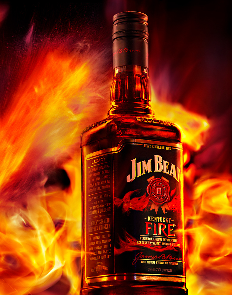 Beverage photo of jim beam fire whiskey photo by brian kaldorf by Brian Kaldorf
