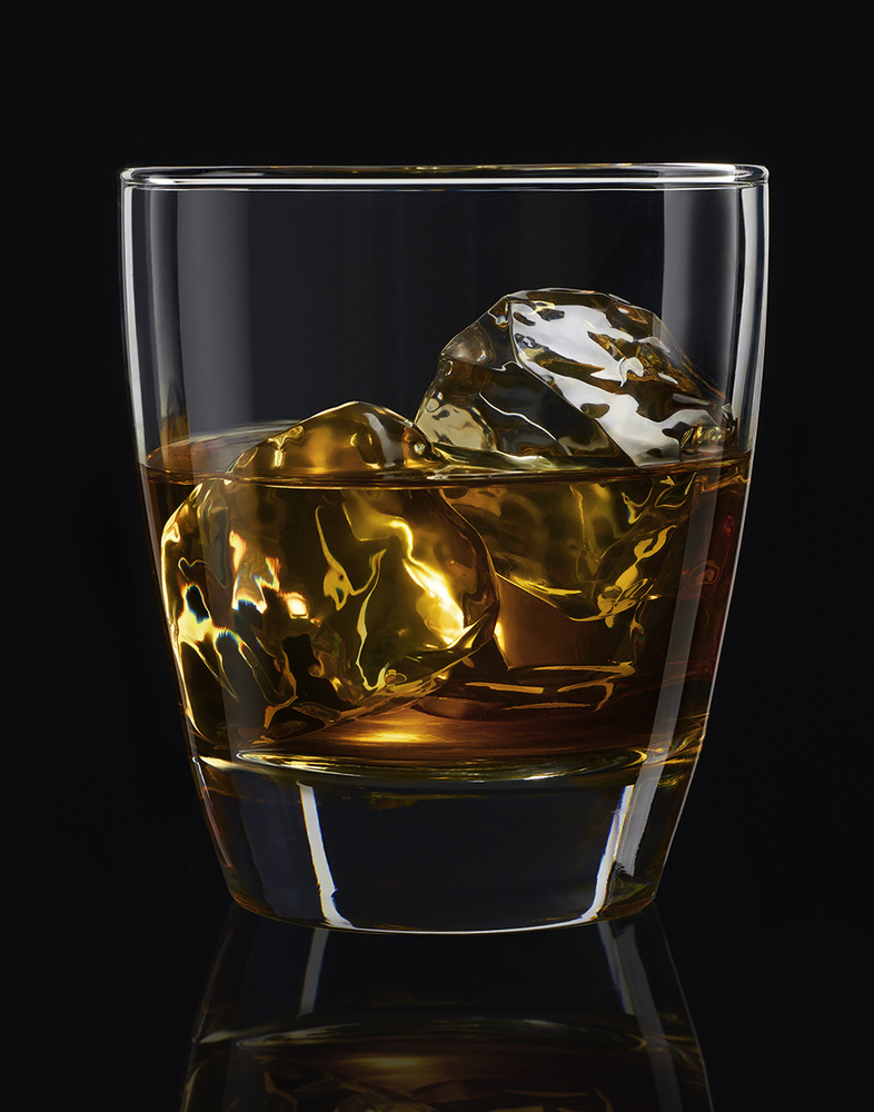 whiskey on the rocks by Brian Kaldorf