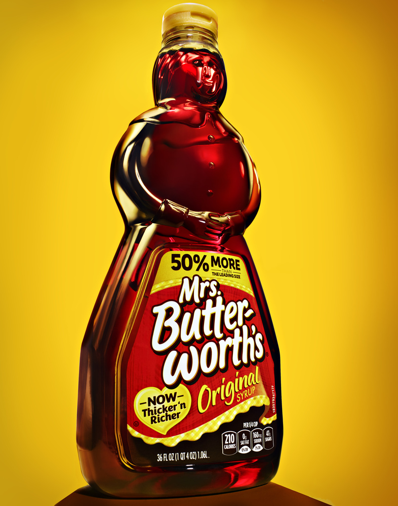product photo of mrs butterworth syrup photo by brian kaldorf by Brian Kaldorf