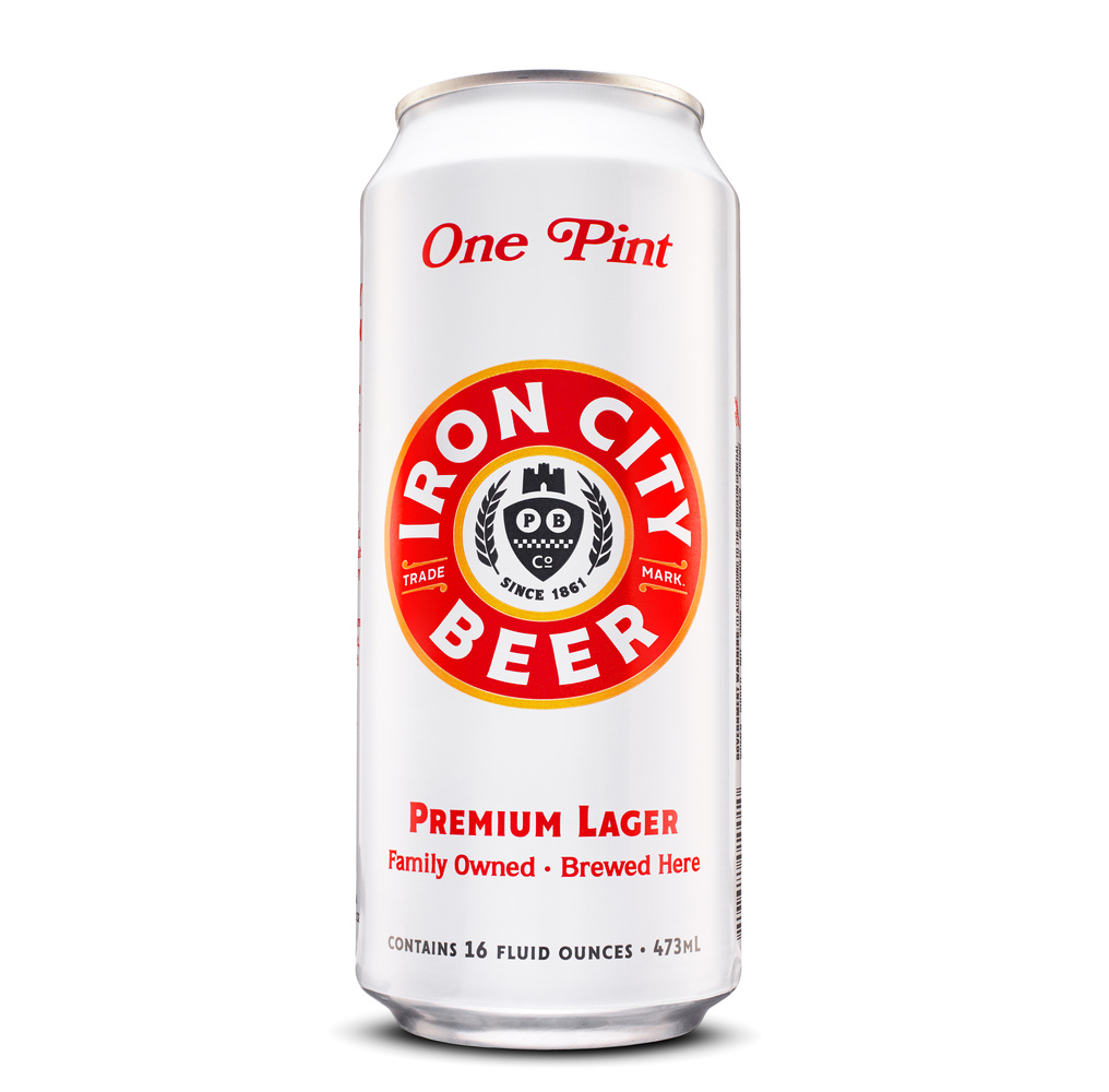 Iron city beer can packshot photo by brian kaldorf by Brian Kaldorf
