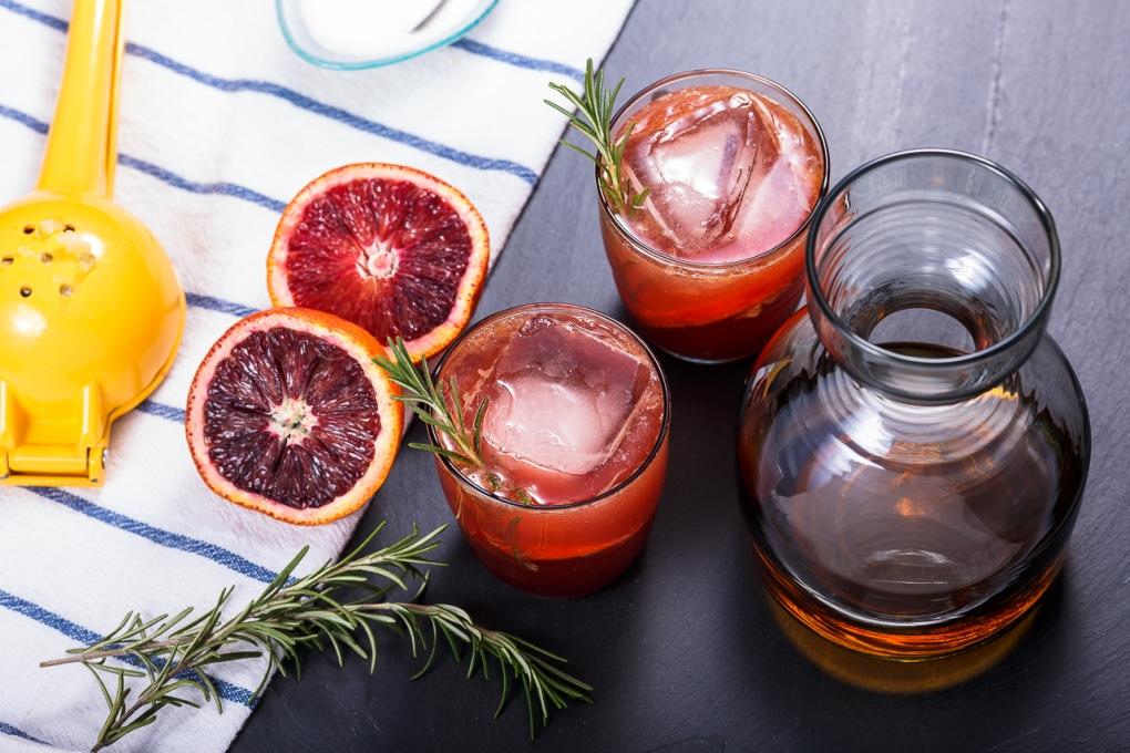 Blood Orange / Rosemary Whiskey Sour by Remus Roman