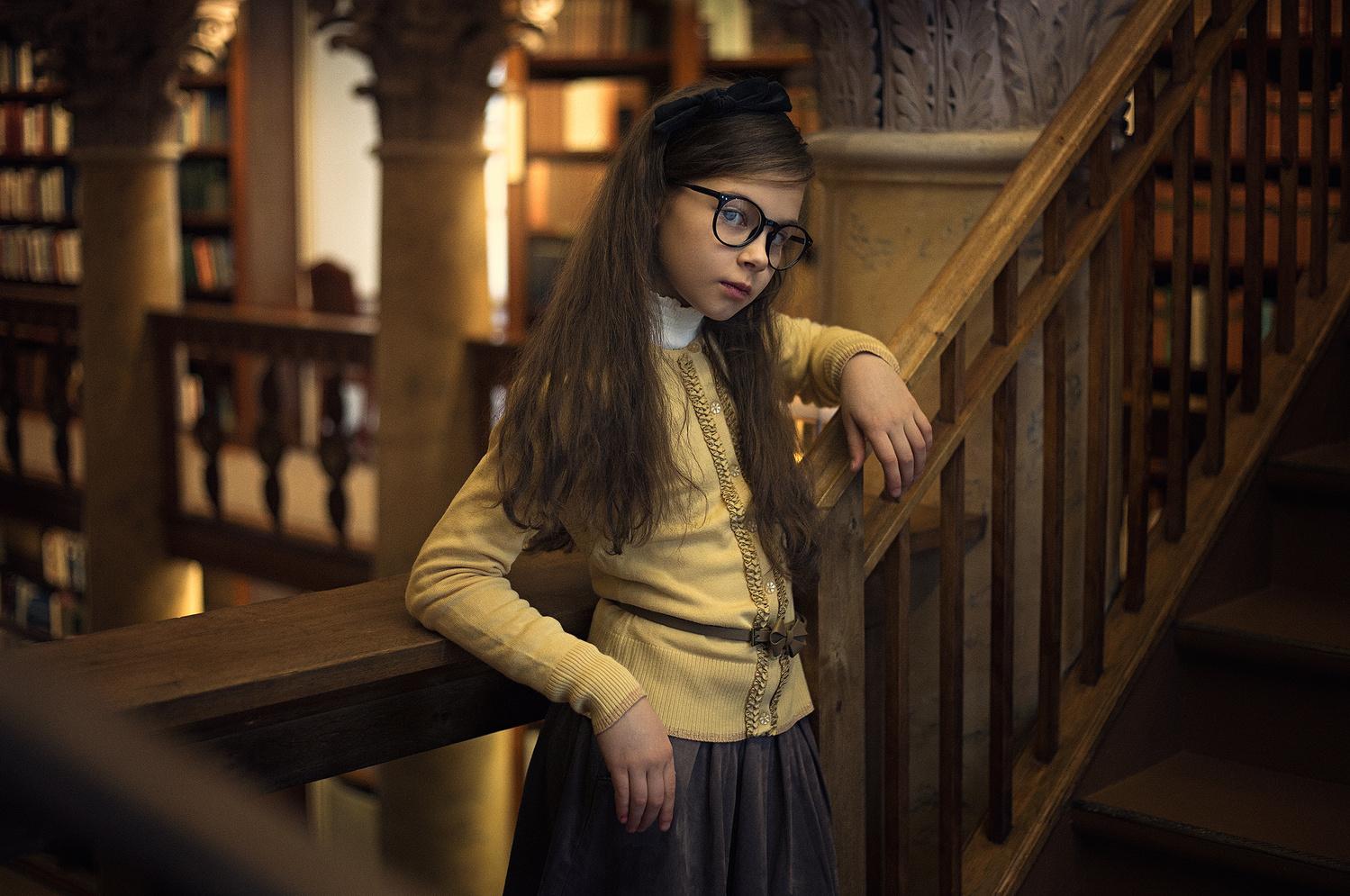 Library girl by Heikki M