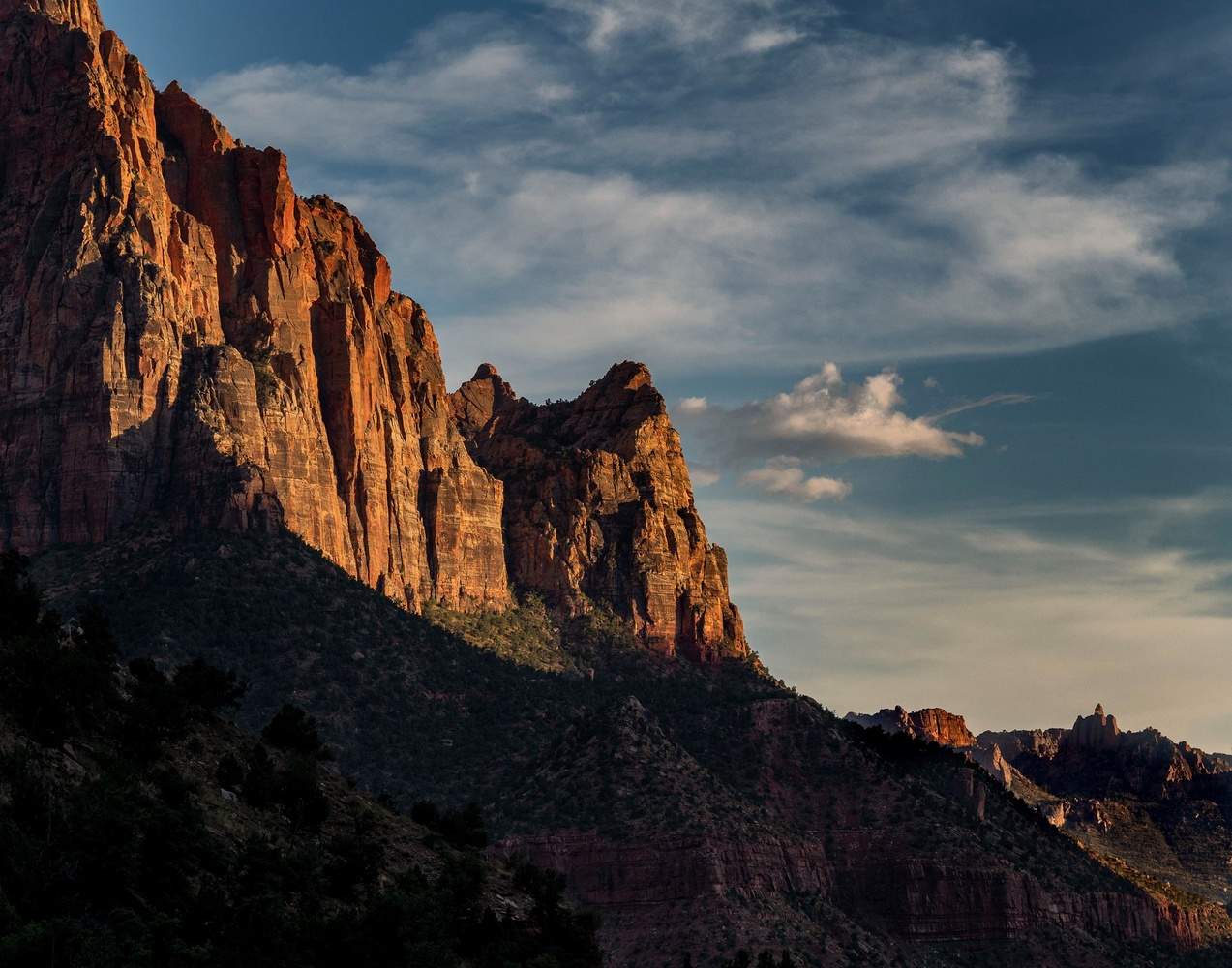 Sunset at Zion National Park by Mark Houston