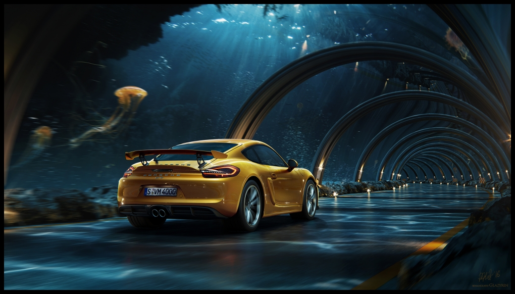 Porsche - Underwater road + making of by Dmitriy Glazyrin