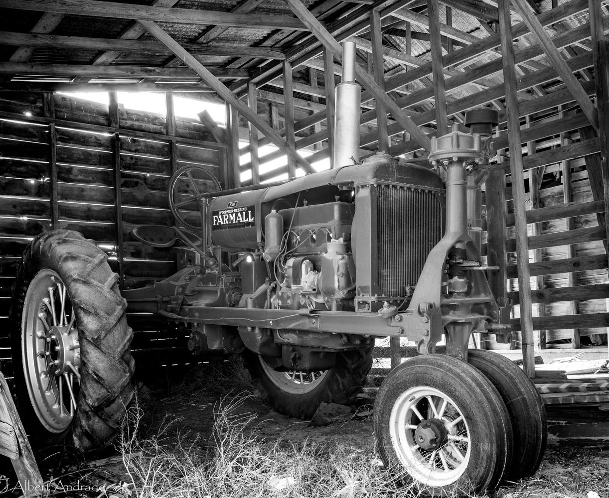Barn Tractor by J. Albert Andrade