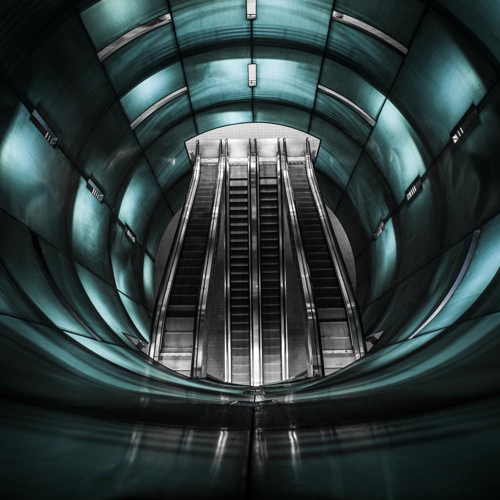Symmetrical Escalator Tube by corrado amenta