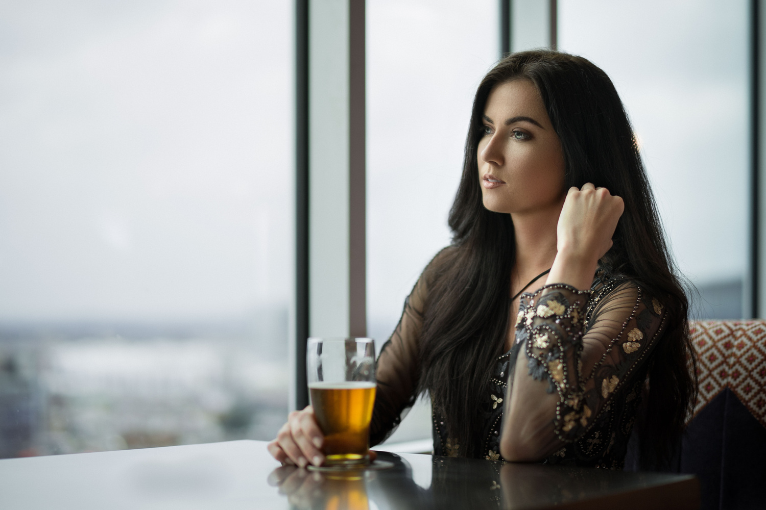 Just a girl and her beer by Jeff Carpenter