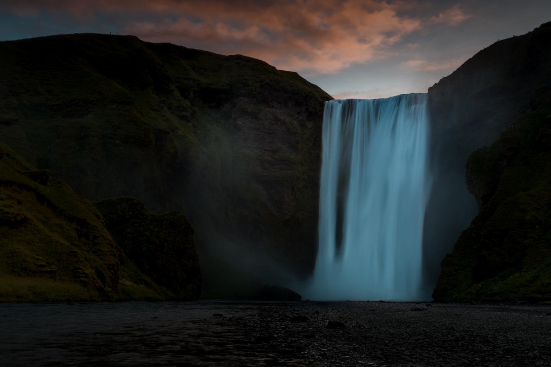 Skógafoss - sunrise by Gerd Moors