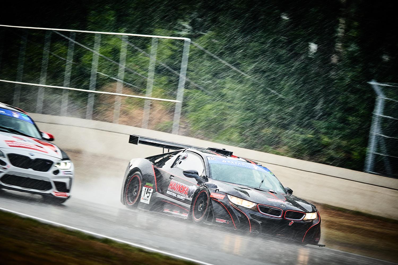 Racing in torrential rain by Gerd Moors