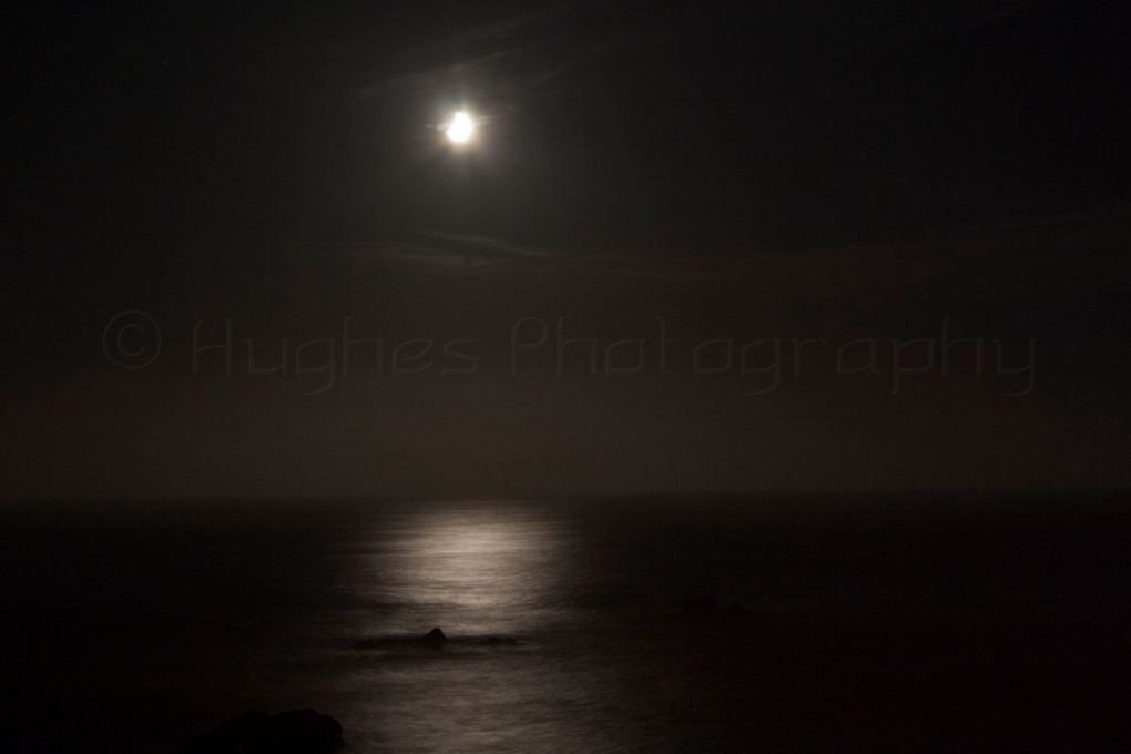 Moon over Fort Bragg, CA by John Hughes
