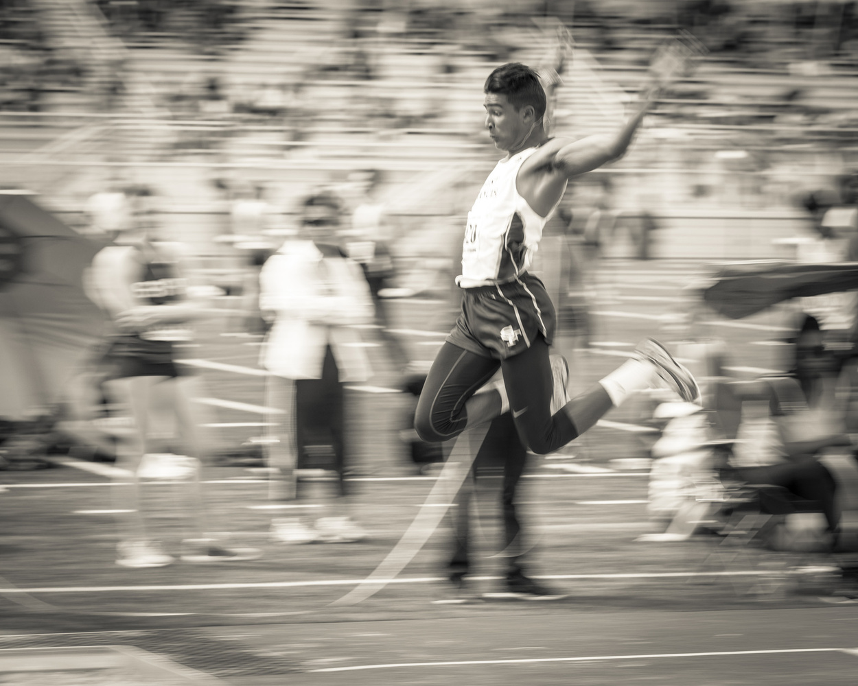 Vintage Long Jump by Sean Gibson