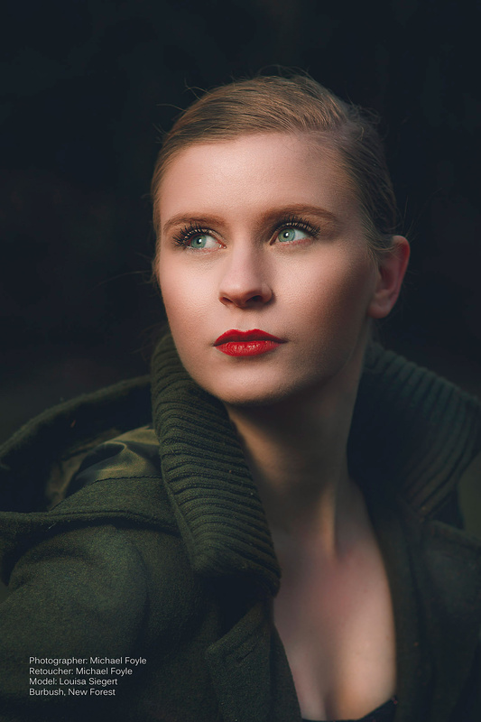 Louisa on location by Michael Foyle