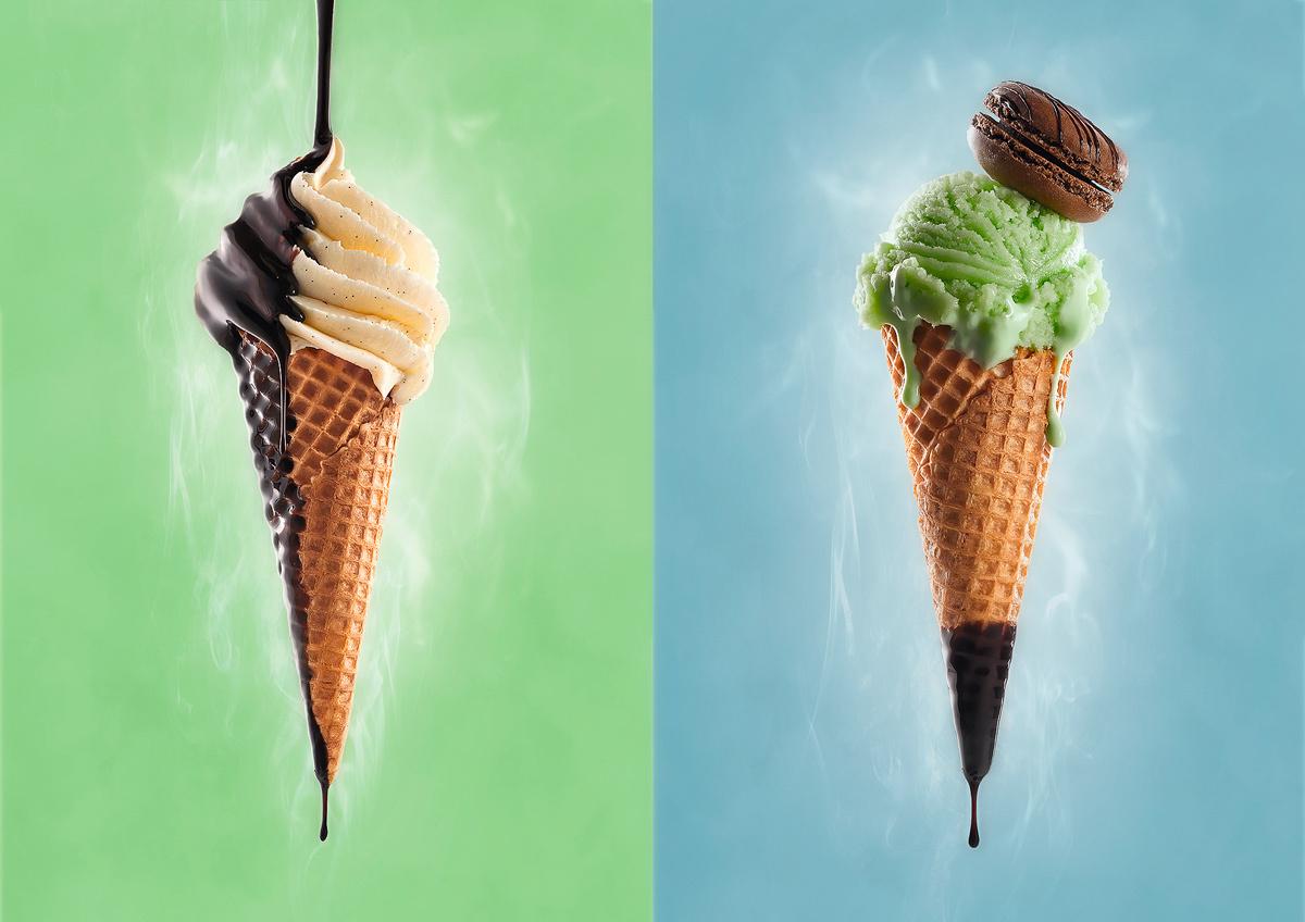 Ice cream , pantone  by Wesley Dombrecht