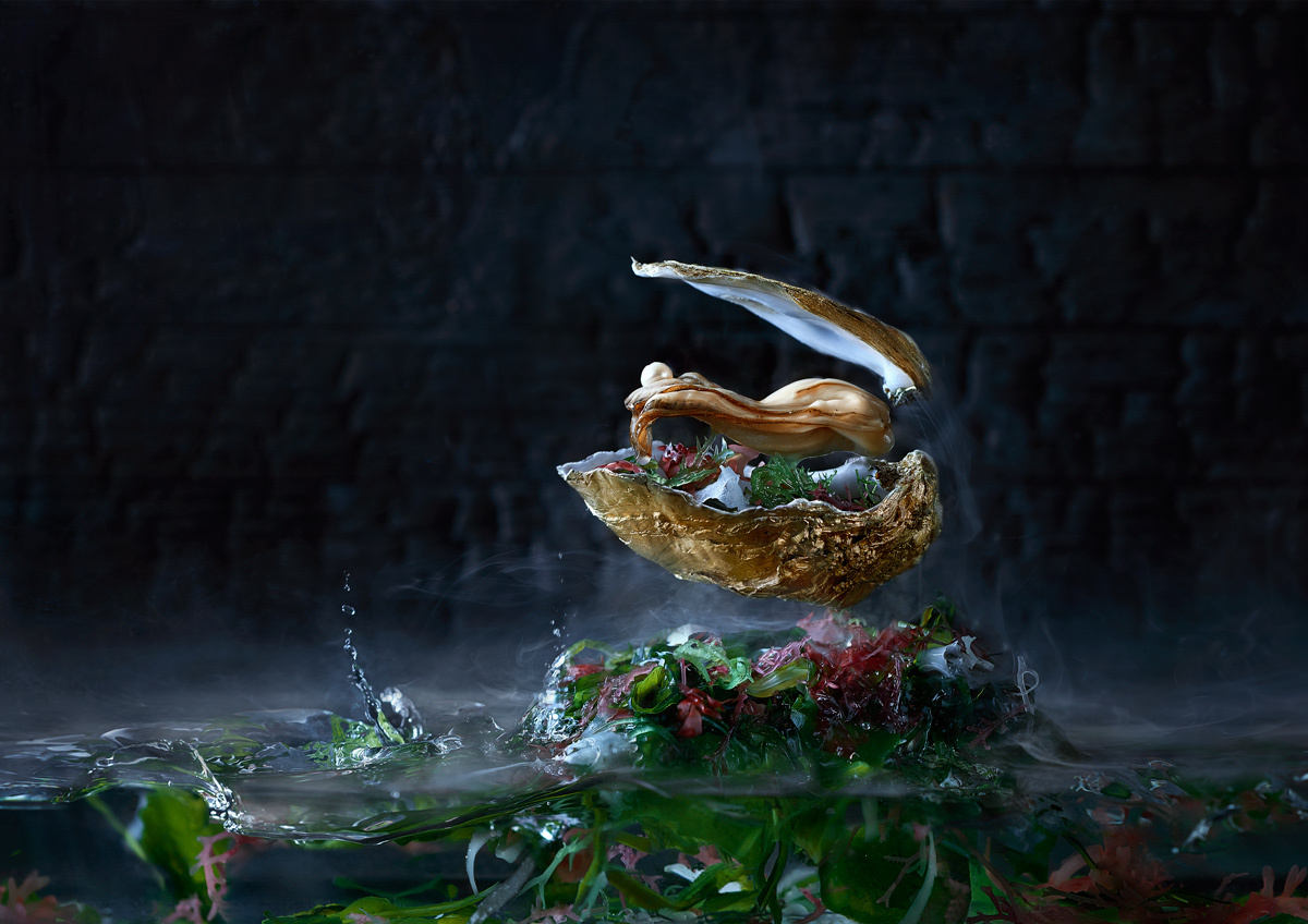 Luxury food serie 'Oyster' by Wesley Dombrecht