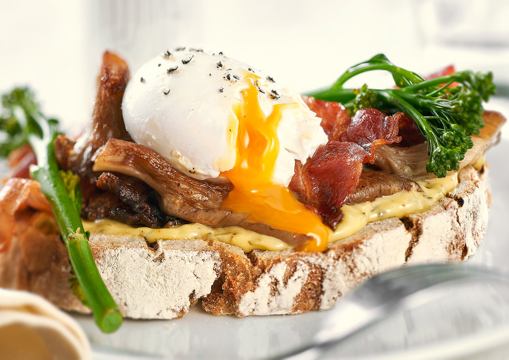 Poached egg toast by Wesley Dombrecht
