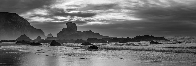 open sky and rocks by Daniel Baggenstos
