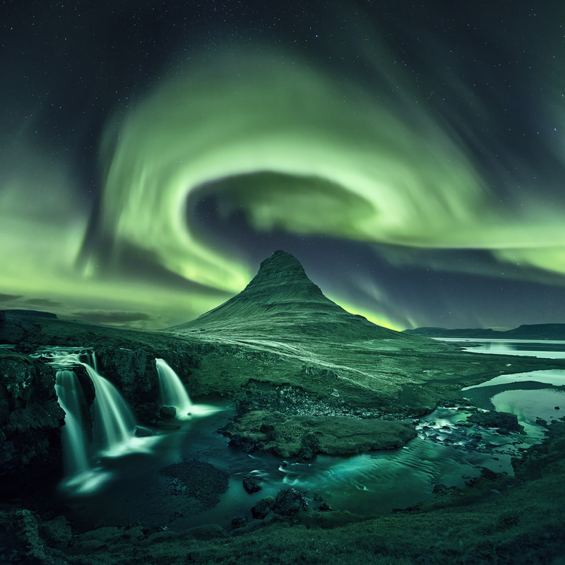 Kirkjufell Aurora by Mads Peter Iversen