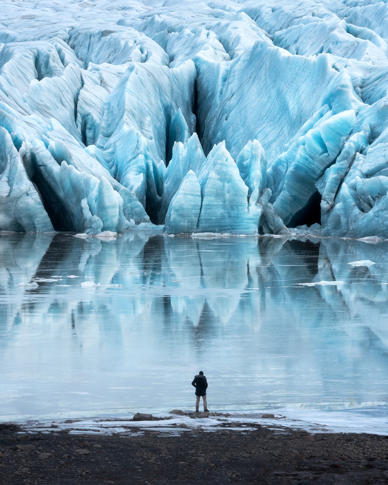 Man vs Glacier by Mads Peter Iversen
