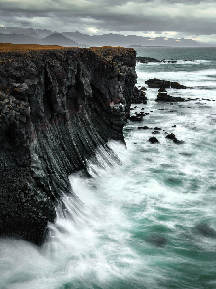 Basalt Cliffs of Arnarstapi by Mads Peter Iversen