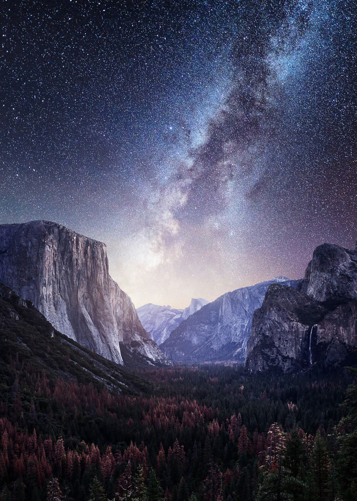 Yosemite Valley Milky Way by Mads Peter Iversen
