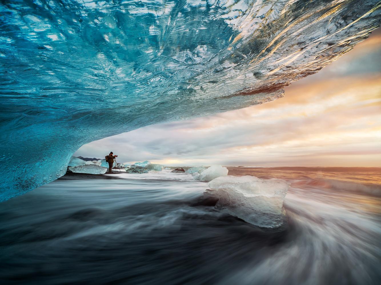 Ice Beach sunrise by Mads Peter Iversen