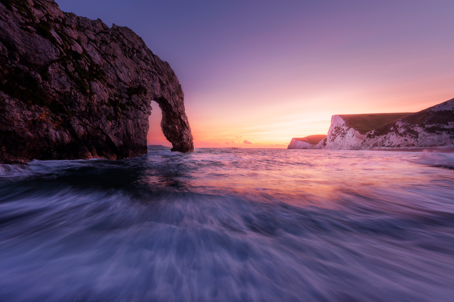Durdle Door sunset by Mads Peter Iversen