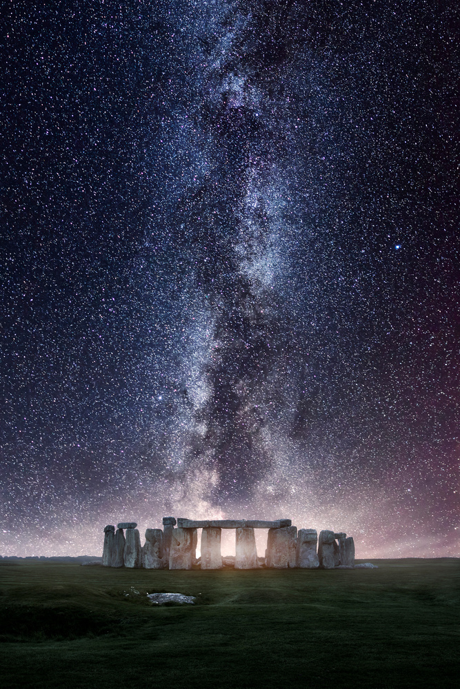 Stonehenge Milky Way by Mads Peter Iversen