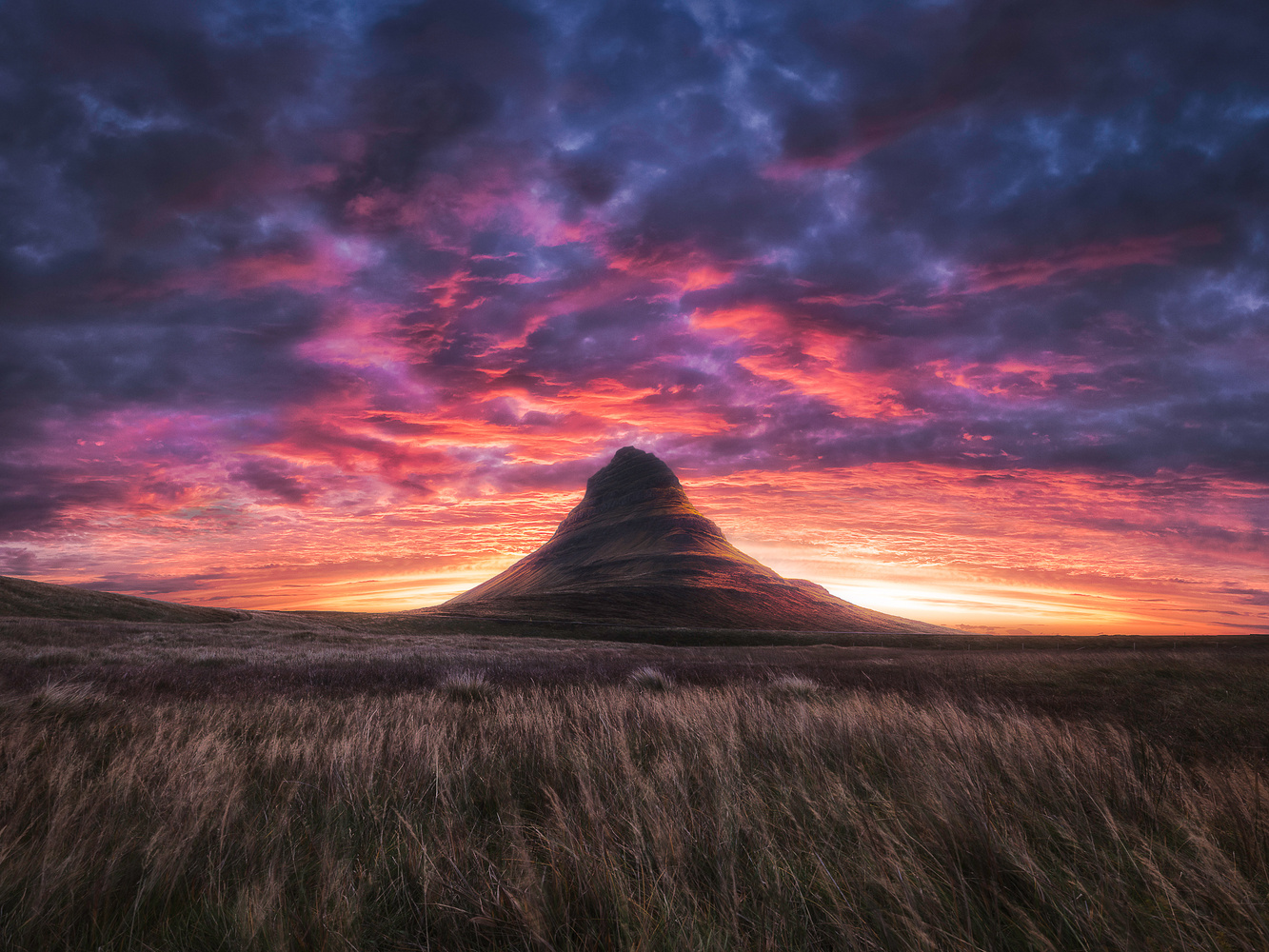 Kirkjufell midsummers night by Mads Peter Iversen